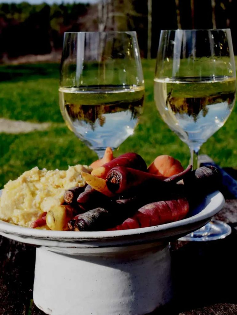 Wine and Food Outside