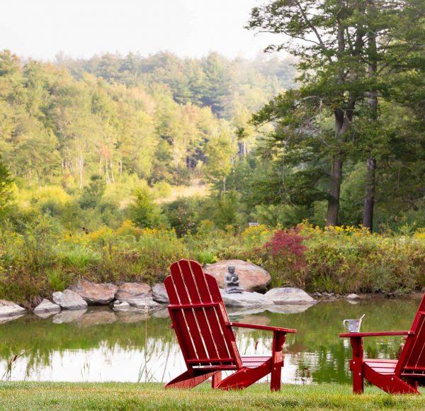 Adirondack Chairs and Pond